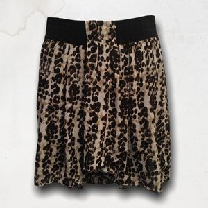 Shades Of Brown Skirt With Elastic Waistband